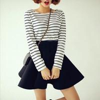 Wholesale Wholesale Tutu Women Plus - 2017 Women Spring Summer Autumn Plus Size Tutu Skirts White Vintage High Waist Flared Puff Mini Beautiful Skater Ball Skirt