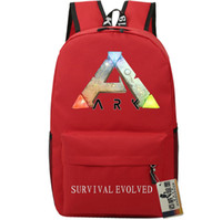 Wholesale Hot Fashion Games - Red Steam ARK backpack Word icon school bag Survival Evolved daypack Hot sale schoolbag New game play day pack