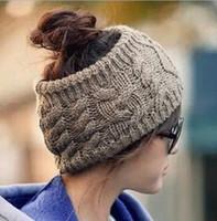 dobby orelhas beanie venda por atacado-Mulheres Beanie Snapback Adultos Senhora Crochet Inverno Vazio Chapéus De Lã de Malha Caps Largura Headbands das Crianças Chapéus Orelha Pescoço Quente para a Moda de Rua