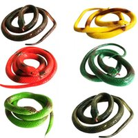 Wholesale Soft Rubber Gag - Halloween Gift Tricky Funny Spoof Toy Simulation Soft Scary Fake Snake Rubber Horror Toy Party Joke Funny Gags Trick Toy Free Shipping