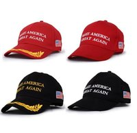 Wholesale Wholesale Hats Usa - Make America Great Again Donald Trump Hat Cap Republican hot fashion US Trump For President USA Hat cc707