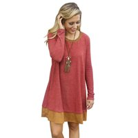 Wholesale Cheap Winters Dresses For Ladies - New products plus size women vintage dresses for womens Loose casual autumn winter dress long sleeve round neck cheap ladies dress New2016