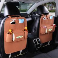 zweck braun großhandel-2x Mehrzweck-Fahrzeug Tasche Auto Organizer Multi-Pocket Rücksitz Aufbewahrungstasche Handytasche Beutel für Bücher Tablet Mobile Getränke Tissue