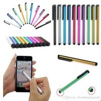 stylo pointu ipad achat en gros de-Stylet capacitif Écran tactile Stylo très sensible pour téléphone ipad iPhone X 8 7 6s 6 plus Samsung S7 S6 tablette de bord Téléphone mobile