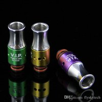 Wholesale Cool E Cig Drip Tips - Best e cig New Hot Aluninum Drip tip Cool design Drip Tips 510 Mouthpiece for protank vivi nova BCC DCT Mt3 CE4 vape RDA Atomizer E Cigars