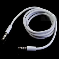 Wholesale Hdmi Connection For Ipad - High Quality White 3.5mm To 3.5 mm Car Aux Audio Cable For iphone ipod nano touch for ipad mp3 mp4 phone car Connection line