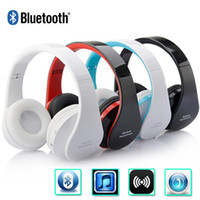 Wholesale Earphone Tablet - Foldable Bluetooth Headphone Wireless Stereo Headset Hands-free With MIC MP3 Earphone For Smartphones Samsung iPhone Tablet PC