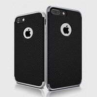 Wholesale Iphone Cases Bees - For iphone 7 7plus Slim Hybrid Bumble Bee Carbon Fiber Flexible TPU Case Impact Bumper Cover for iphone7 plus