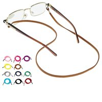 Wholesale sunglasses cord lanyards for sale - Group buy Fashion Colorful Braided PU Leather Sunglasses Lanyards optical Eyeglasses Eyewear Spectacle Lanyard Cords