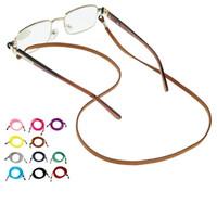 güneş gözlüğü kordon boyunlukları toptan satış-Moda Renkli Örgülü PU Deri Güneş Gözlüğü Boyunluklar optik Gözlük Gözlük Gözlük Kordon Kabloları