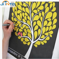 Wholesale Figure Painting Book - Wholesale- Many Styles Wedding Fingerprint Tree Signature Guest Book for Wedding Party Graduation Sign in Figure Painting Size S L