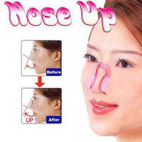 Wholesale Nose Slimming - 1000pcs lot Nose UP Silicone Beauty Clip Lifting Shaping Clipper No pain Rhinoplasty Lift Up Slimmer Smaller Align Shape Clip Wrap