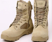 Wholesale Delta Wedges - Delta high help leather 07 outdoor men and women combat boots tactical boots desert mountain snow boots