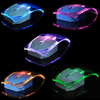 ingrosso decorazioni usb per computer-Mouse ultra-sottile trasparente colorato chiaro che emette i mouse senza fili 2.4G Optical accendono il computer portatile Multi-color che cambia mouse luminoso
