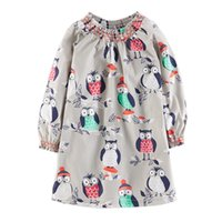 Wholesale Girl Fashion Designer Dress - Kids Clothing Appliqued Baby Girl Dress Designer Autumn Dress for Kids Fashion A-Line Children Clothing Girl Party Dresses