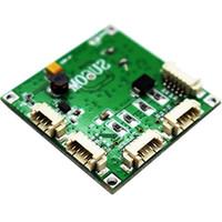diseño de módulos al por mayor-La mejor placa de circuito mini ethernet de 38 * 38 mm, DC 5-15v 5 pines conector 4 puertos 10 100 mbps módulo de pcb de interruptor de red con diseño compacto