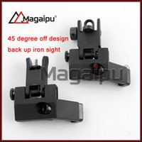Wholesale 45 Degree Offset Sights - Magaipu CNC BUIS Backup Front Rear Flip Up 45 Degree Offset Rapid Transition Iron Sight