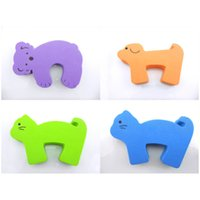 Wholesale Baby Safety Foam - EVA Baby Finger Pinch Guard Baby Door Slam Stopper Children Safety Cartoon Animal Foam Door Stopper 4pcs