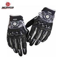 Wholesale Perforated Leather Gloves - Wholesale- Motorcycle Gloves Men Summer Breathable Perforated Man Knuckle Protect Glove Racing Cycling Motocross Motorbike Guantes Luvas