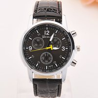Wholesale Leather Belts Buckles Wholesale - Watches manufacturers selling men's belt in Geneva watches Ms eye six stitches fashion movement quartz watch