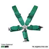 "Wholesale racing seats black - New 1 Set Black   Green 3"" 5 POINTS Car Seat Belt with FIA 2020  Harness Racing Safety Seat Belt TK-AQD011TA5"