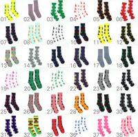 Wholesale Crew Socks Colors - Maple Leaf Socks Unisex Plantlife Socks Hot high Crew Socks Wed Skateboard hiphop stockings 200pcs=100pair 38 colors 100