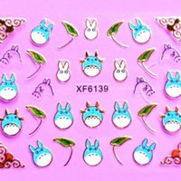Wholesale Holiday Nail Art Stickers Decals - 24 Designs Cute Cartoon Animal Gold Line Series Holiday Nail Decals Nail Art 3d Stickers Free shipping