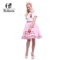 Wholesale Xxl Dresses China - Wholesale-Rolecos Sweet China Lolita Dresses Plus Size White Blouse with Pink Skirt With Headwear