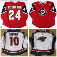 hockey jerseys оптовых-# 10 MARIAN GABORIK Трикотажные изделия Minnesota Wild Vintag # 24 Derek Boogaard 37 Wes Walz Custom Hockey Jerseys Все сшитые