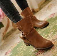 Wholesale Leather Ladies Riding Boots - new woman ladies shoes zapatos mujer chaussure women boots ankle boots bota Riding Boots Casual Ladies Martin Boots