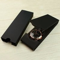 Wholesale shockproof watches - Wholesale high quality paper rectangle Folding Watch black box internal shockproof Soft foam Fashion jewelry gifts boxes