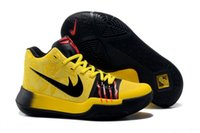 Wholesale New Basketball Shoe Releases - 2017 New Released Kyrie Irving 3 Bruce Lee Black Yellow  Black Red Basketball Shoes Top Quality Mens Sports Sneakers Size 40-46