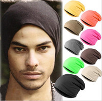 Wholesale Cap Stack - New Unisex Plain Beanie Stacking Hat Slouch For Women Men Hip Hop Free Size Casual Autumn Winter Cap
