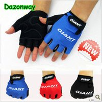 Wholesale Mountain Bikes Gloves - Giant Short Finger Cycling Gloves Mountain Bike Half Finger Bicycle Gloves Spring&Summer Non-Slip Breathable Sports Gloves Freeshipping