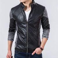 Wholesale Denim Jacket Leather - 2015 Fall Top Quality Boutique Brand Jeans Jacket Men Slim Fit Male Leather Jacket Casual denim Jackets For Men Chaqueta Hombre
