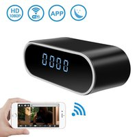 Wholesale Nanny Wireless Spy Camera - Hidden Spy Camera Alarm Clock Upgraded Wireless Spy Camera Full HD 1080P Motion Detection Camcorder for Home Security Nanny Cam