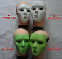 Wholesale Street Dance Costumes - Masked dancer halloween costumes light-emitting ghost step mask a street dance mask