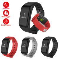 Wholesale F1 Android - Fitness Tracker Wristband Heart Rate Monitor Smart Band F1 Smartband Blood Pressure With Pedometer Bracelet Blood oxygen