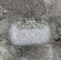 bankett handtaschen großhandel-2019 neueste Baum Blume Diamanten Abendtasche Hand Holding Bag Drill Bankett Damen Paket Braut Tasche Bling Bling Shiny