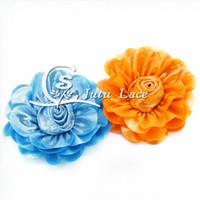 Wholesale Rose Hair Tie - Shiny rose petals clothes applique accessories, fabric flower collar flower headband flower headwear hair tie accessories