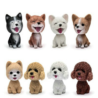 Wholesale Shaking Head Dolls - High-grade car shaking his head dog ornaments car swing dog cartoon car doll dog gift new year a total of 8 models