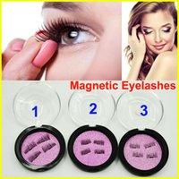 Wholesale Dhl Free Shipping False Eyelashes - Magnetic Eye lashes 3D Mink Reusable False Magnetic Eyelashes Extension 3d eyelash extensions magnetic eyelashes makeup DHL Free shipping