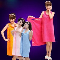 Magic Wearable Bath Serviettes SPA Douche Femmes Wrap Super Suction Bath Jupe Robes de Bain Superfine Fiber Serviette 155 * 80cm DHG36