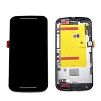 touchscreen für moto g2 großhandel-LCD Digitizer mit Rahmen für Motorola Moto G2 XT1063 XT1068 XT1069 Display Touchscreen Komplette Montage + Kostenlose DHL Versand
