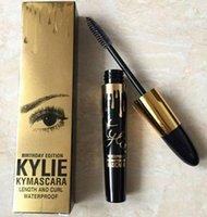 Wholesale Eye Lash Curling Kit - Birthday Edition Kylie Mascara Kymascara Length and Curl Eyelashes Waterproof Black Kylie Jenner Kit Brands Eye Lashes Makeup Cosmetic DHL