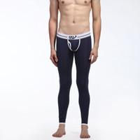 Wholesale Mens Long Johns Wholesale - Wholesale-Mens Long Johns Thermal Warm Underwear Pants Soft Modal Underpants Pants S-XL L4 HU5
