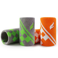 Wholesale Basketball Elbow Bands - FANGCAN Cotton 8x10CM Jacquard Sweat Absorption Sports Wrist Band Unisex Basketball Tennis Badminton Running Breathable Wrist Support