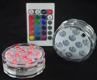 velas eletrônicas de controle remoto venda por atacado-NOVO Controle Remoto Colorido Aquário LED de Iluminação de Mergulho 10 LEDs À Prova D 'Água Subaquática Eletrônico Candle Lamp Fish Tank Lamp