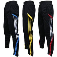 Wholesale Leg Panel - high quality football pants male sports pants closed leg pants feet pants riding pants running fitness training pants summer thin section