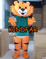Wholesale Tigger Outfits - Wholesale-Luck Tigger Mascot Costume Tiger Adult Size Fancy Dress Cartoon Character Outfit Suit Free Shipping
